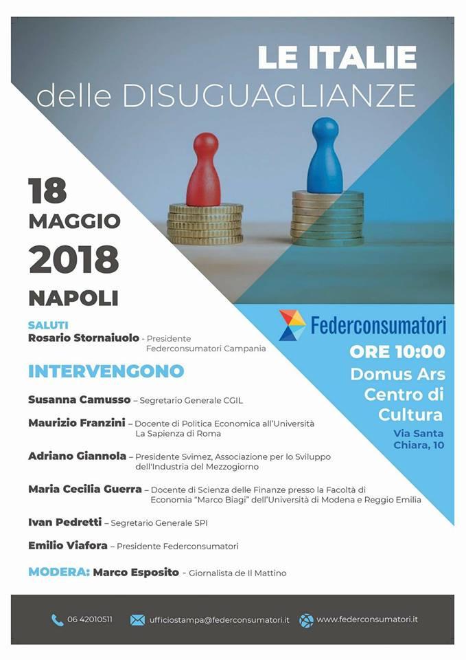 Iniziativa Nazionale Federconsumatori: Le Italie delle disuguaglianze