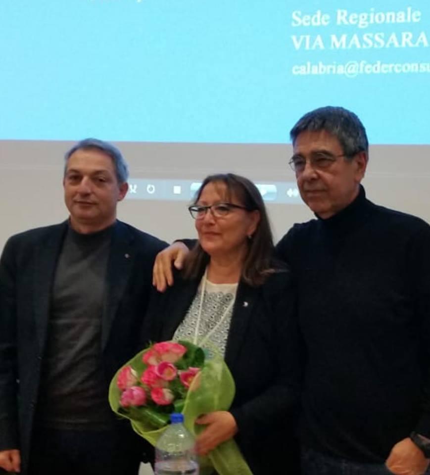 CONGRESSO FEDERCONSUMATORI CALABRIA: MIMMA IANNELLO CONFERMATA PRESIDENTE